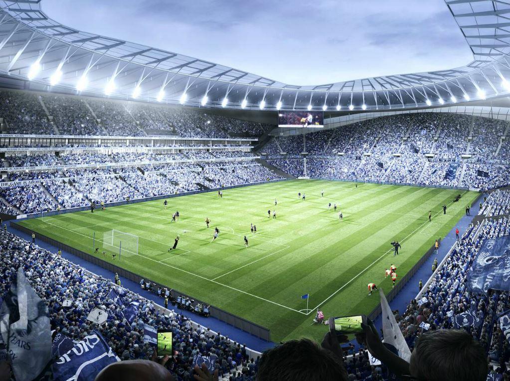 Le plan virtuel du nouveau stade de Tottenham