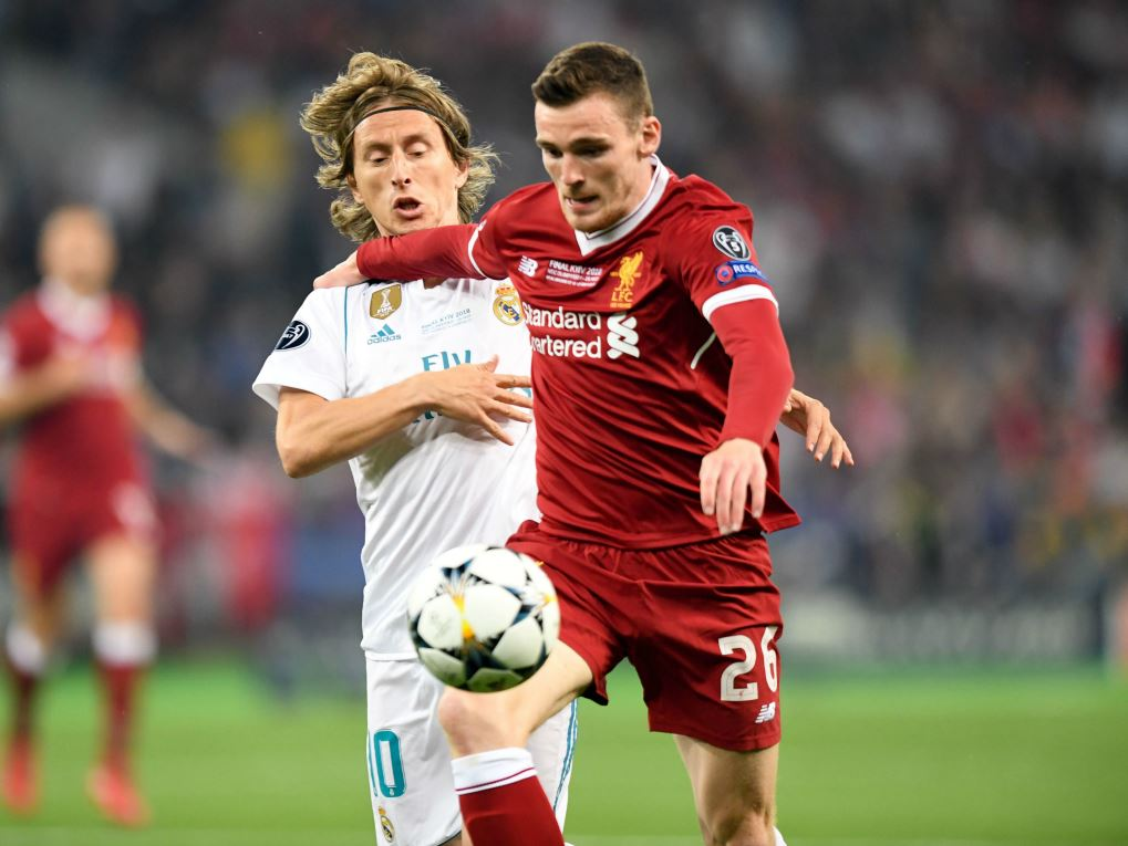 Andrew Robertson (Liverpool) face au Real Madrid