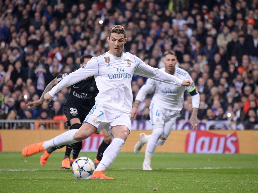 Cristiano Ronaldo juste avant son penalty égalisateur