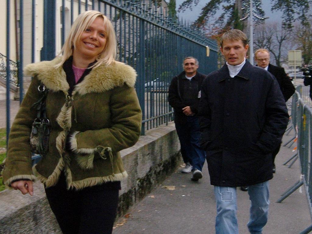 Edita Rumsas (sa femme, à gauche) et Raimundas