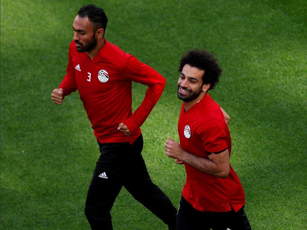 Mohamed Salah tout sourire à l'entrainement