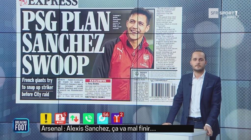 Sanchez au PSG dès janvier — Arsenal