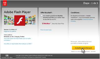 Je vérifie que j'ai bien installé la dernière version de Flash Player