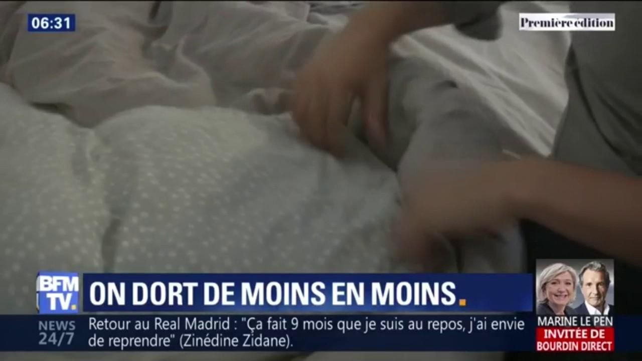 Les Français dorment de moins en moins