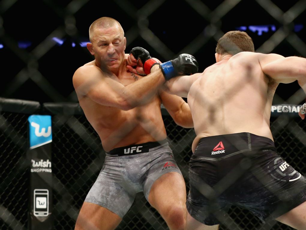 Georges St-Pierre face à Michael Bisping