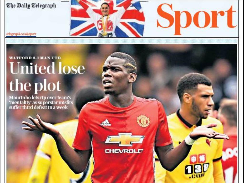 La Une du Daily Telegraph