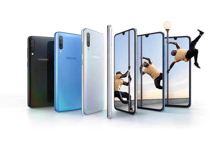 Visuel Galaxy A70 sous différents angles