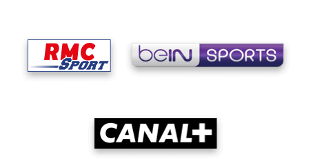 logos RMC Sport + BeIn Sports + Canal+